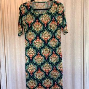 EUC LuLaRoe Julia Dress size M